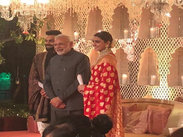 PM Modi at the reception