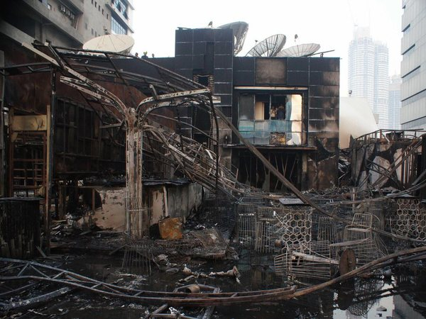 A view of the building which was gutted