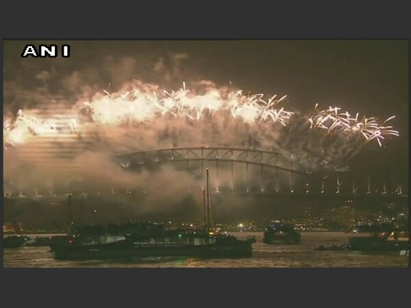 Australia celebrates New Year with fire-works. Photo credit: ANI