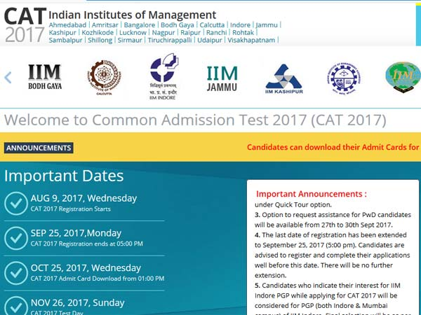 CAT Results 2017 date: All you should know