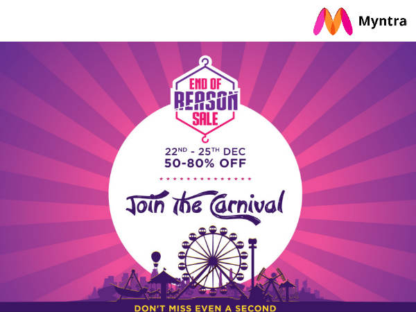 Myntra End Of Reason Sale With Savings