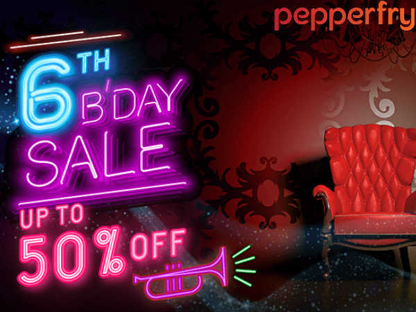 Pepperfry! 6 Years in The Making- Grab 50% Off*