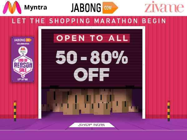 Merry Christmas Sale: Myntra, Jabong, Zivame - Upto 80% Off*