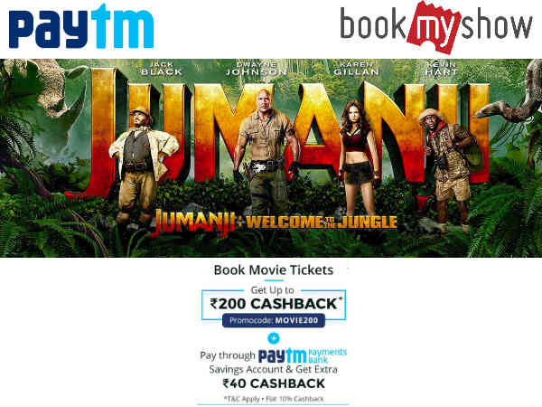 Jumanji 2 'Starring the Rock', Book Tickets Upto Rs.200 Cashback*