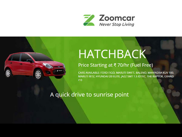 YOUR CAR AWAITS, Travel Anywhere, Only at Rs.70/hr* Via ZOOMCAR