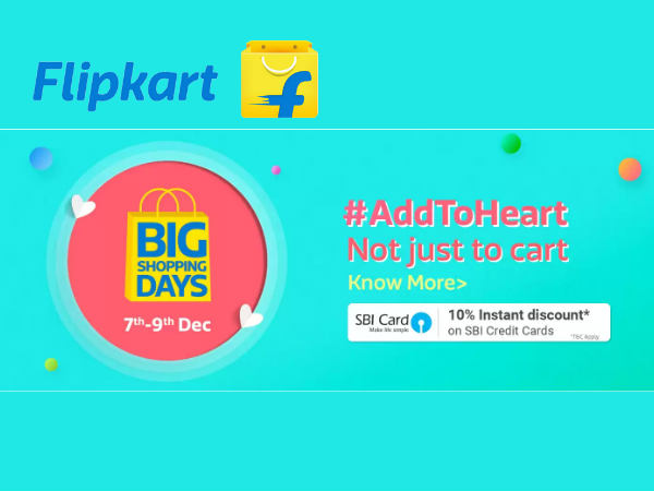 All's Well When Monday's Well: Flipkart (7th- 9th Dec) BIG SHOPPING DAYS!