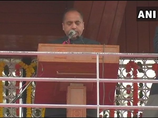 Jai Ram Thakur takes oath as Himachal CM. Courtesy: ANI news
