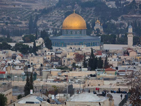 A view of Jerusalem Old City seen from Mount of Olives, Wednesday, Dec. 6, 2017. U.S. officials say President Donald Trump will recognize Jerusalem as Israel's capital