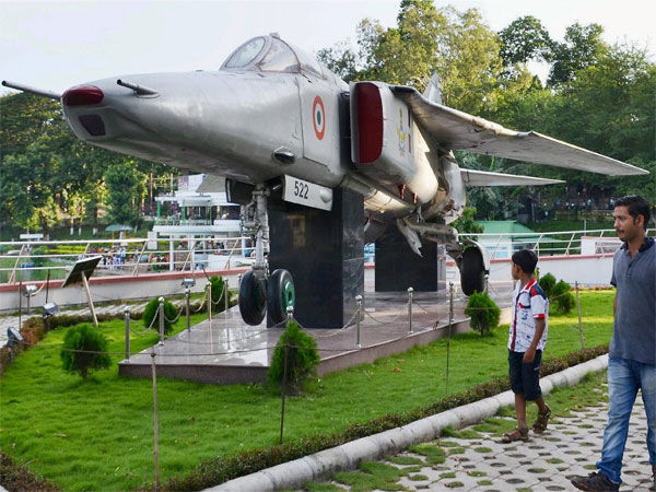 File photo of a MiG 27 which was used in Kargil Conflict, at War Memorial in Guwahati (PTI Image)