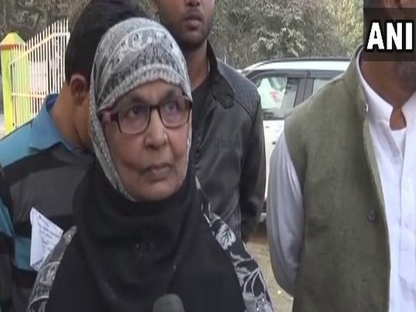 Winning candidate Nadira Khatoon. Courtesy: ANI news
