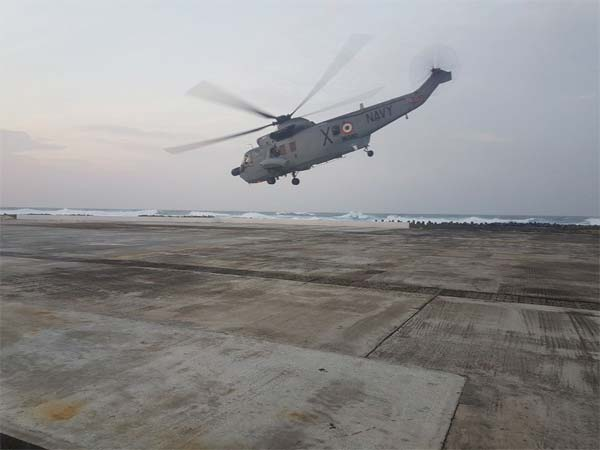 Seaking helicopter of Indian Navy. Courtesy: @indiannavy