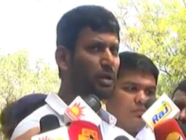Vishal Files Nomination For RK Nagar By-Election
