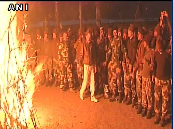 BSF jawans celebrating Lohri in Poonch