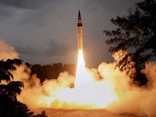 Surface-to-surface Agni-V missile successfully test fired off Odisha