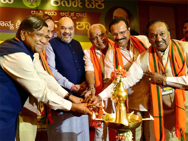 Implement one-plus-one strategy at any cost, Amit Shah tells Karnataka BJP leaders