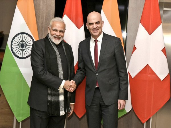 PM Modi with Swiss President Alain Berset (right)