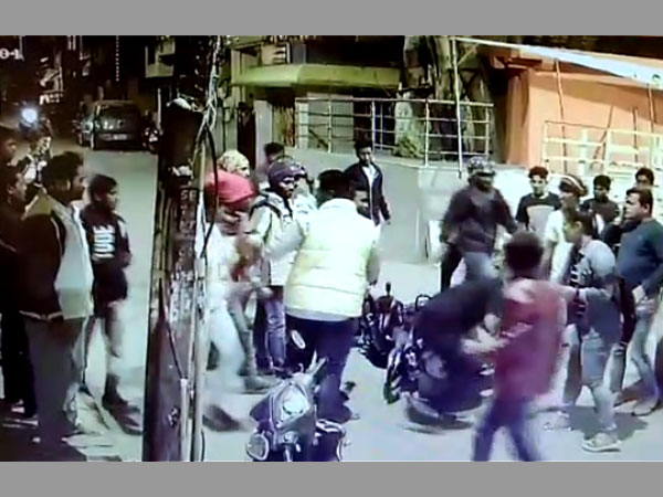 Bengaluru New Year's Eve horror caught on cam: Drunk mob assaults duo