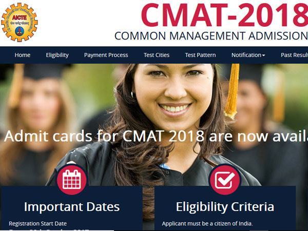 CMAT 2018 admit card released, download now