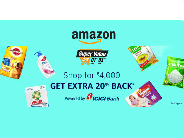 LAST DAY! Amazon Pantry 'Monthly Groceries' Rs.1200 Cashback*