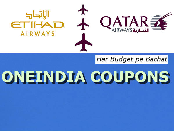 Etihad Vs Qatar Airways Flight Tickets, From Rs.30,335* Onwards