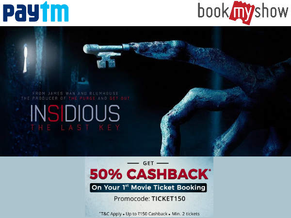 Oneindia Coupons Movie Weekend: Flat 50% Cashback* On Tickets