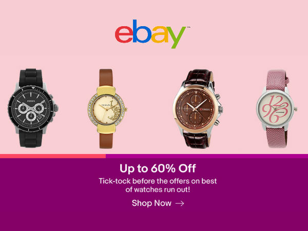 eBay India Deal Breakout! 60% Off on All*