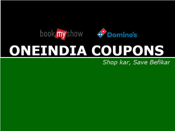 'Pizza & Movie Tickets' at 50% Cashback* ONEINDIA COUPONS