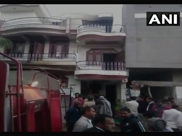 Five family members killed in cylinder blast in Jaipur. Courtesy: ANI news