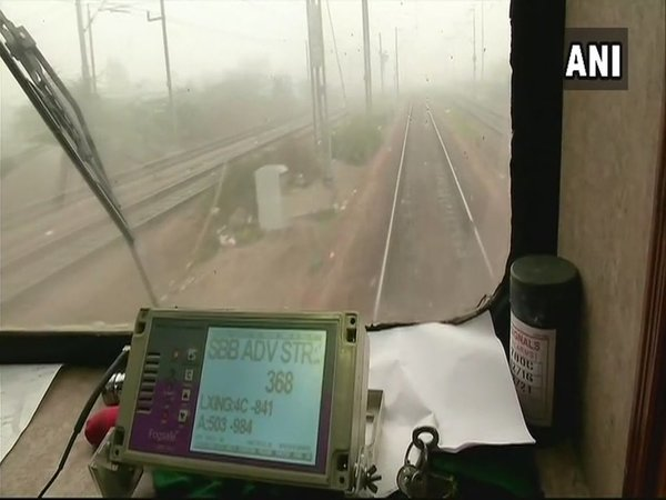 The GPS device which is helping the locomotive operators