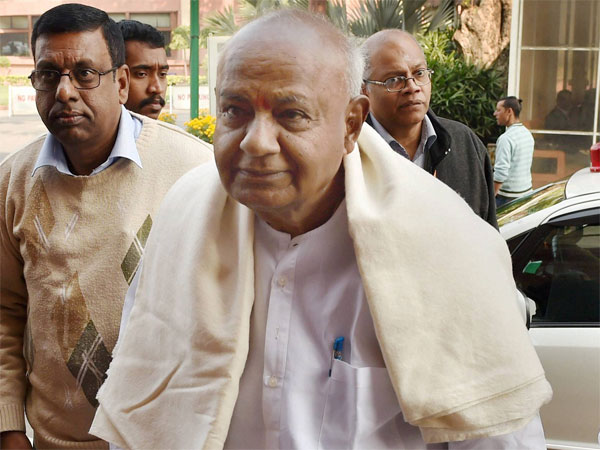 Former Prime Minister and JD(S) President H. D. Deve Gowda. PTI file photo