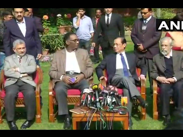 Justice J Chelameswar and three other senior Supreme Court judges had held a press conference on Friday.