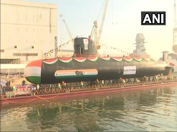 INS Karanj being launched from MDL