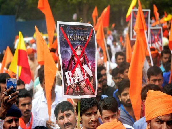 File photo of protests over movie Padmavat