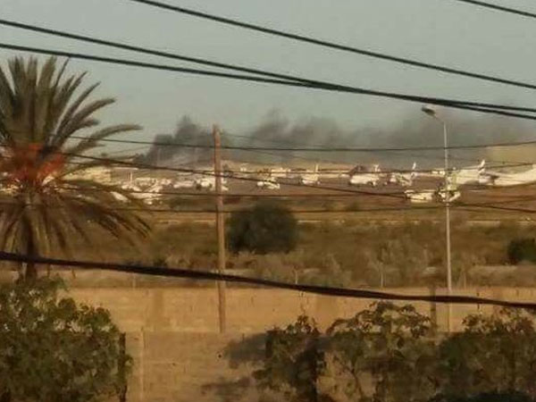 Heavy clashes hit Tripoli's Mitiga airport. Photo credit: Twitter