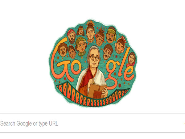Google Doodle honours Mahasweta Devi on her 92nd birth anniversary