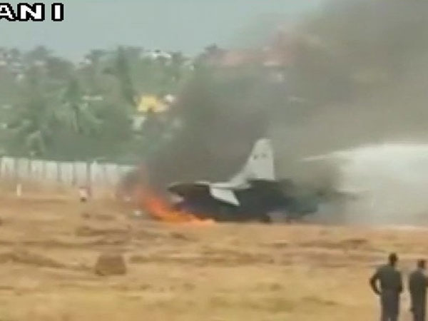 MIG aircraft on fire at Goa airport, 6 flights delayed