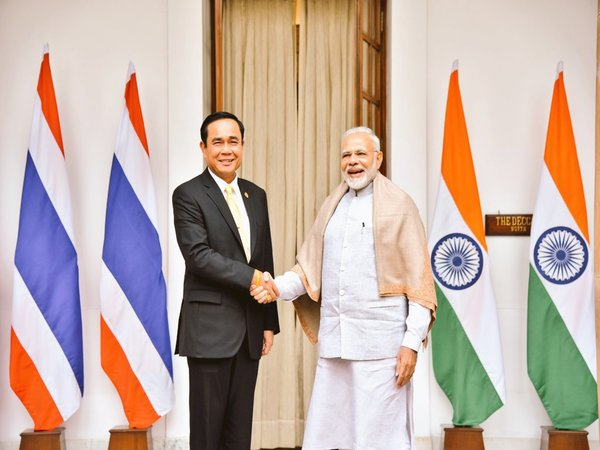 PM Modi with his TYhailand counterpart Gen Prayut Chan-o-cha
