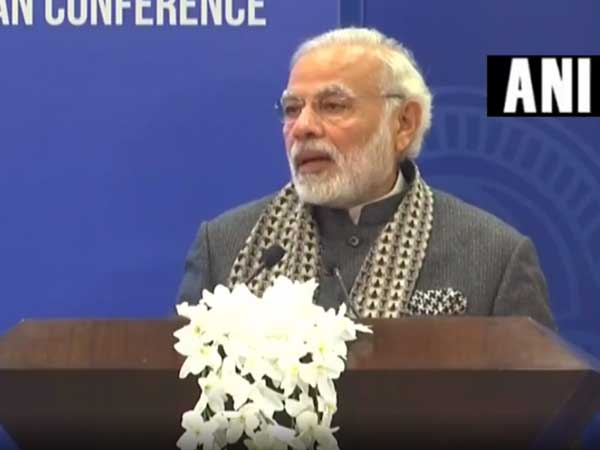 PM Modi lauds Persons of Indian Origin's contribution to policy, geo-politics. Courtesy: ANI news