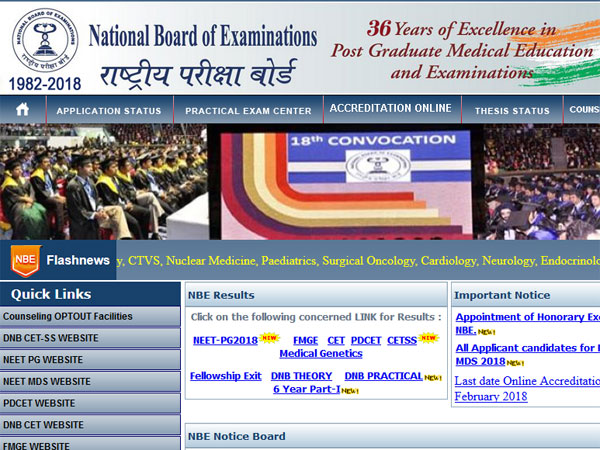 DNB CET results 2017 declared - Oneindia News