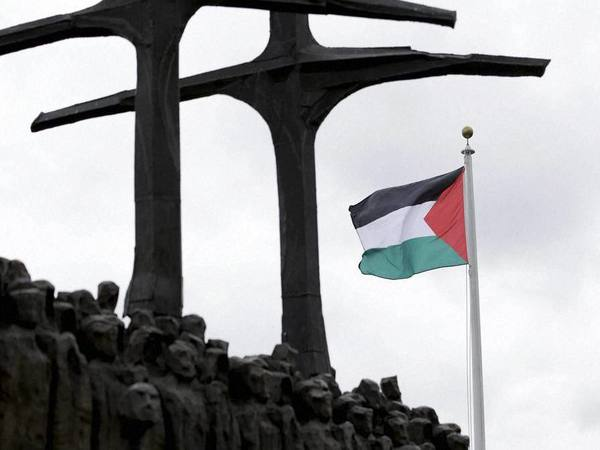The State of Palestine flag flies for the first time at U.N. headquarters, PTI file photo