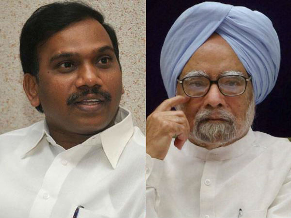 Understand compulsions that prevented you from supporting me: Raja writes to Manmohan Singh