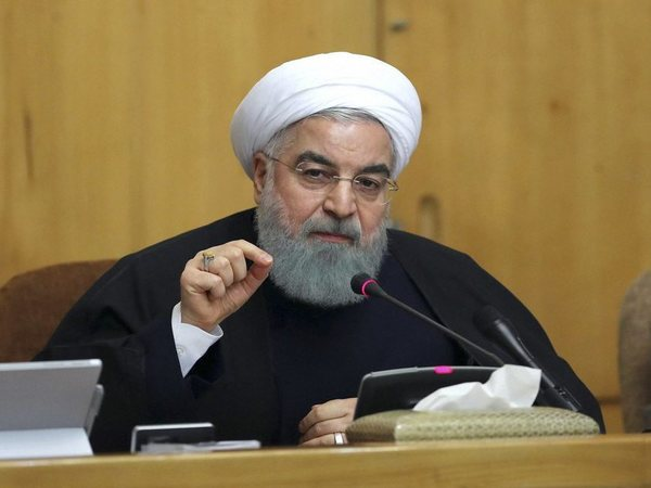"In this photo released by official website of the office of the Iranian Presidency, President Hassan Rouhani speaks in a cabinet meeting in Tehran, Iran, Sunday, Dec. 31, 2017. After a wave of economic protests swept major cities in Iran, President Rouhnai said Sunday that people have the right to protest, but those demonstrations should not make the public ""feel concerned about their lives and security. AP/PTI"