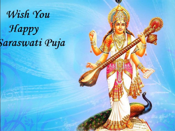 saraswati puja vasant panchami perform puja needed oneindia news