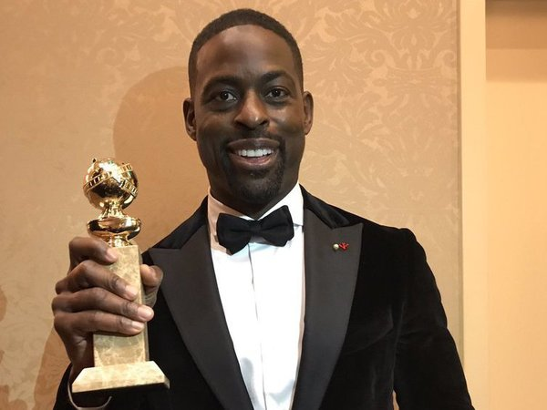 Sterling K Brown wins Golden Globe. Courtesy: @SterlingKBrown