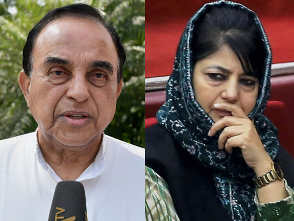 Subramanian Swamy and Mehbooba Mufti