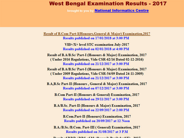Calcutta University BA/BSc Part 1 Exam Results 2017 declared, check now
