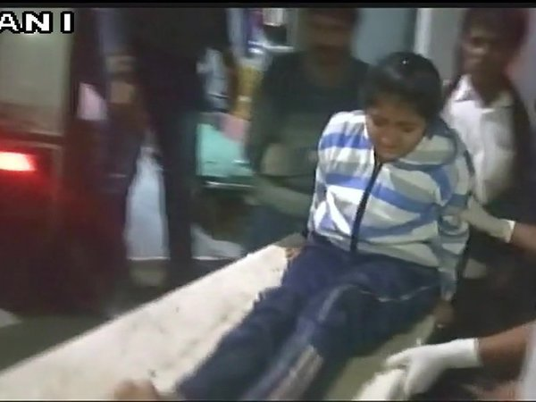 The injured girl beign shifted to hospital. Courtesy: ANI news