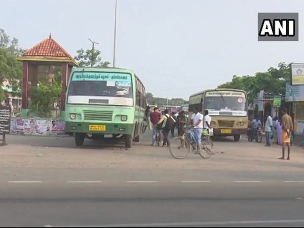 Visuals from Rameswaram, where it is the fourth day as the union here started the strike late. Courtesy: ANI news