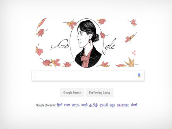 Virginia Woolf Google Doodle - Stream-Of-Consciousness Narratives