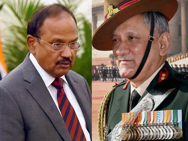 Ajit Doval and Army Chief General Bipin Rawat